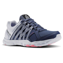 Reebok YourFlex Training Womens Running Shoes (Blue Ink / Cloud Grey)