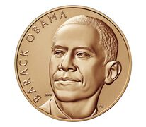Barack Obama (First Term) Bronze Medal 1 5/16 Inch