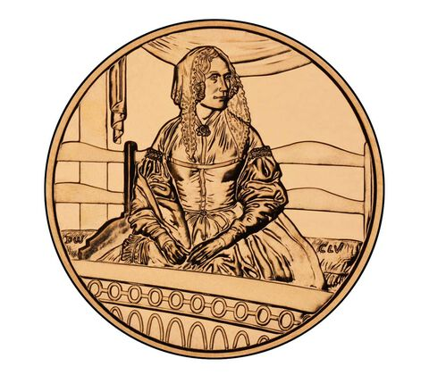 Jane Pierce 2010 Bronze Medal 1 5/16 Inch,  image 2