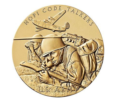 Hopi Tribe Code Talkers Bronze Medal 3 Inch