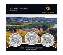 Theodore Roosevelt National Park 2016 Quarter, 3-Coin Set