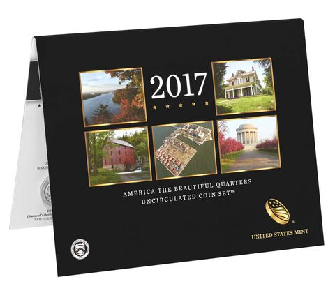 America the Beautiful Quarters 2017 Uncirculated Coin Set,  image 2