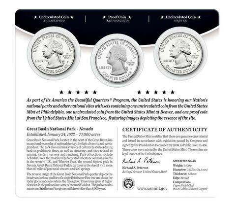 Great Basin National Park 2013 Quarter, 3-Coin Set,  image 2