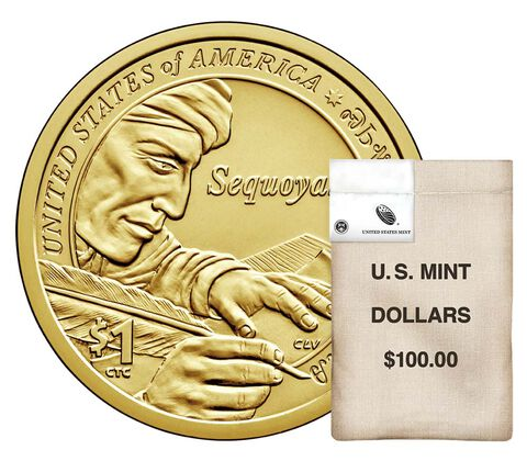 Native American $1 Coin 100-Coin Bag Enrollment