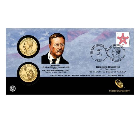 Theodore Roosevelt 2013 One Dollar Coin Cover
