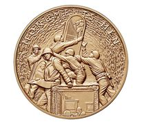 Monuments Men Bronze Medal 1.5 Inch