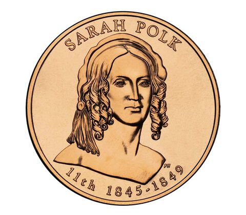 Sarah Polk 2009 Bronze Medal 1 5/16 Inch