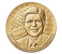 Jacob J. Lew Secretary of the Treasury Bronze Medal 3 Inch
