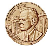 George Bush Bronze Medal 1 5/16 Inch