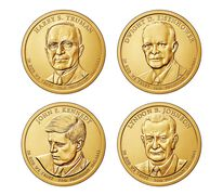 Presidential 2015 One Dollar Four-Coin Set