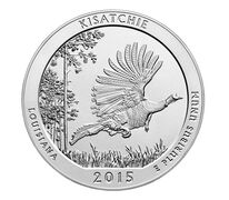 Kisatchie National Forest 2015 Uncirculated Five Ounce Silver Coin
