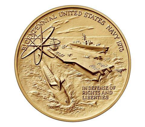 U.S. Navy Bicentennial Bronze Medal 3 Inch