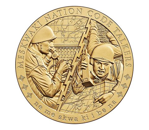Meskwaki Nation Code Talkers Bronze Medal 1.5 Inch