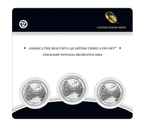 Chickasaw National Recreation Area 2011 Quarter, 3-Coin Set