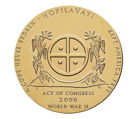 Hopi Tribe Code Talkers Bronze Medal 3 Inch,  image 2