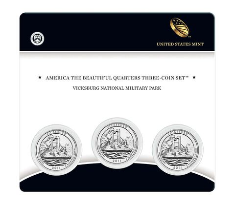 Vicksburg National Military Park 2011 Quarter, 3-Coin Set