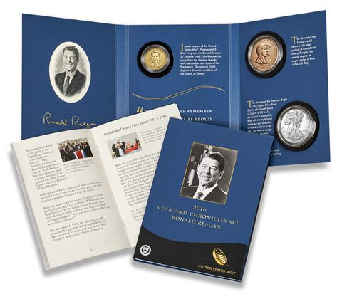 2016 Coin & Chronicles Set - Ronald Reagan,  image 1