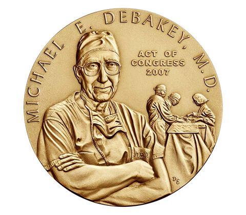 Dr. Michael E. DeBakey, M.D. Bronze Medal 3 Inch