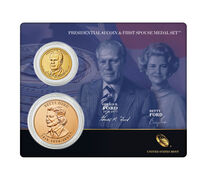 Gerald Ford 2016 Presidential $1 Coin & First Spouse Medal Set