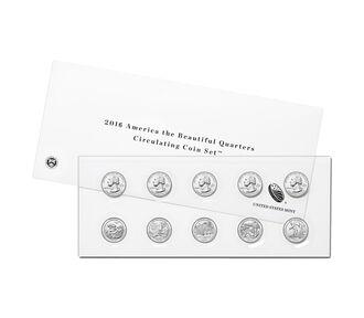 America the Beautiful Quarters 2016 Circulating Coin Set