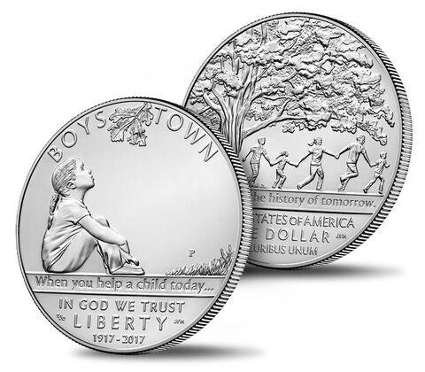 Boys Town Centennial 2017 Uncirculated Silver Dollar,  image 3