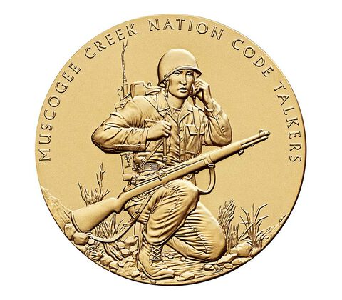 Muscogee Creek Nation Code Talkers Bronze Medal 3 Inch