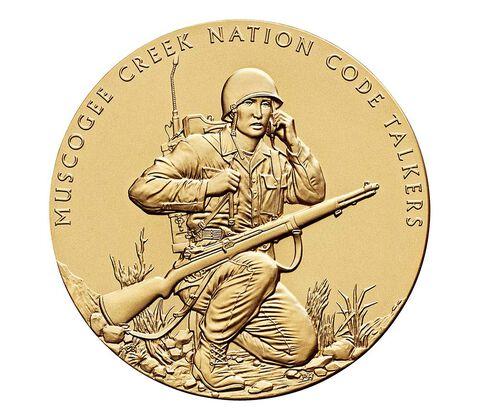Muscogee Creek Nation Code Talkers Bronze Medal 3 Inch