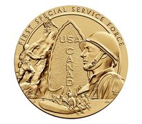 First Special Service Force 3 Inch Bronze Medal