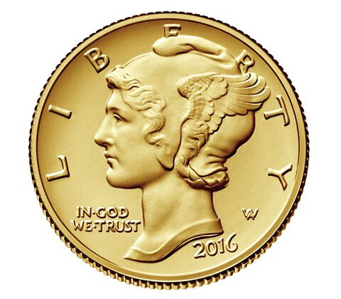 Mercury Dime 2016 Centennial Gold Coin - U.S. Mint.gov
