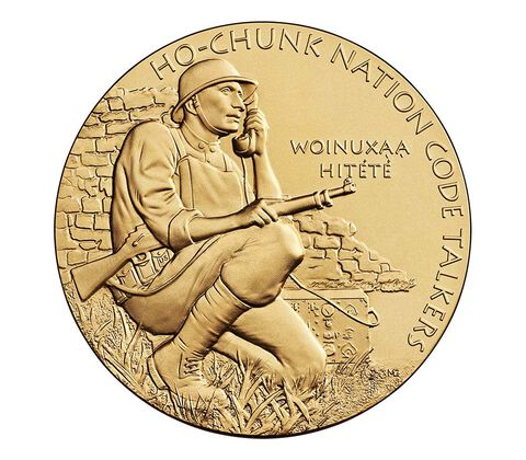 Ho-Chunk Nation Code Talkers Bronze Medal 1.5 Inch