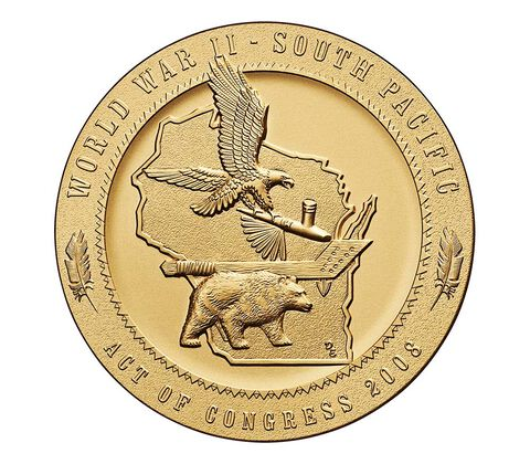 Ho-Chunk Nation Code Talkers Bronze Medal 3 Inch,  image 2