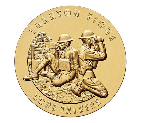 Yankton Sioux Tribe Code Talkers Bronze Medal 3 Inch