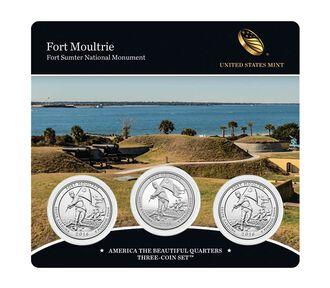 Fort Moultrie (Fort Sumter National Monument) 2016 Quarter, 3-Coin Set