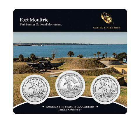 Fort Moultrie (Fort Sumter National Monument) 2016 Quarter, 3-Coin Set