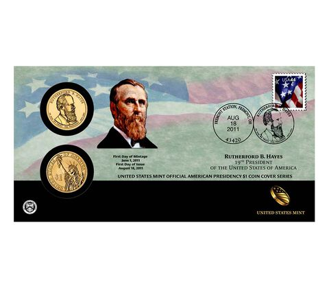 Rutherford B. Hayes 2011 One Dollar Coin Cover