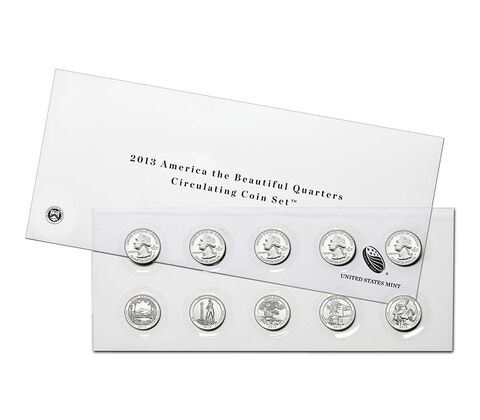 America the Beautiful Quarters 2013 Circulating Coin Set
