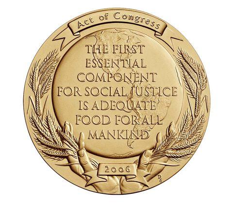 Dr. Norman Borlaug Bronze Medal 3 Inch,  image 2