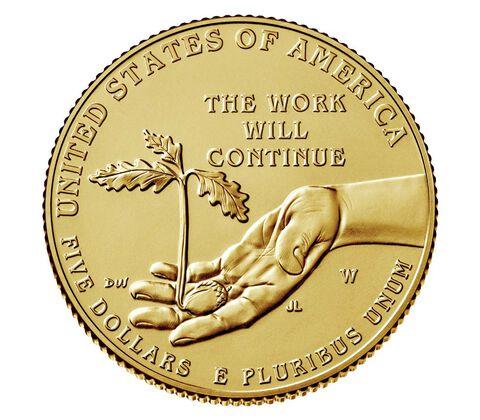 Boys Town Centennial 2017 Uncirculated $5 Gold Coin,  image 2