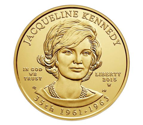 Jacqueline Kennedy 2015 First Spouse Series One-Half Ounce Gold Uncirculated Coin