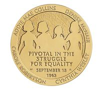16th Street Baptist Church Bombing Victims Bronze Medal 3 Inch