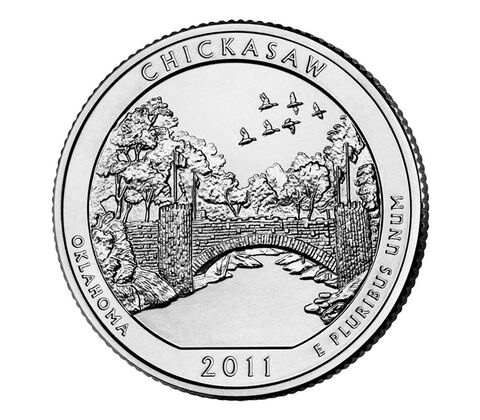 Chickasaw National Recreation Area 2011 Quarter, 3-Coin Set,  image 3