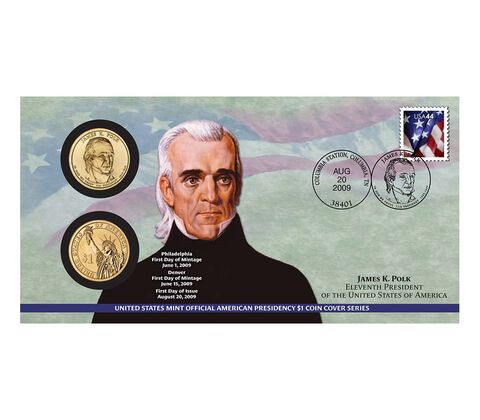 James K. Polk 2009 One Dollar Coin Cover