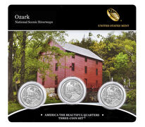 Ozark National Scenic Riverways 2017 Quarter, 3-Coin Set