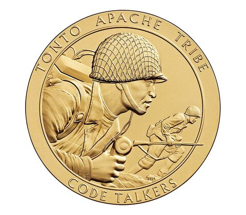 Tonto Apache Tribe Code Talkers Bronze Medal 3 Inch