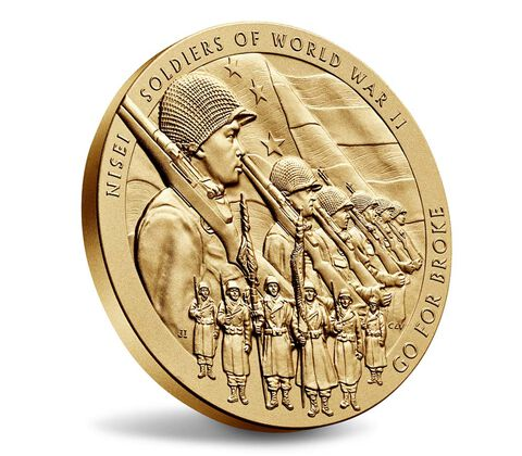 Nisei Soldiers of World War II Bronze Medal 3 Inch,  image 3