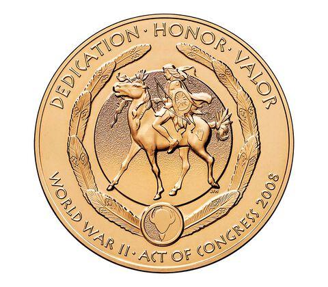 Kiowa Tribe Code Talkers Bronze Medal 1.5 Inch,  image 2