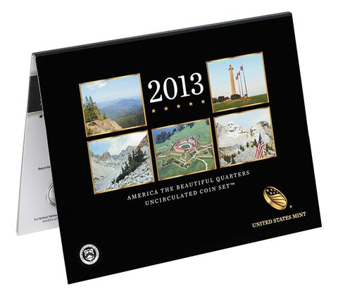 America the Beautiful 2013 Quarters Uncirculated Coin Set,  image 2