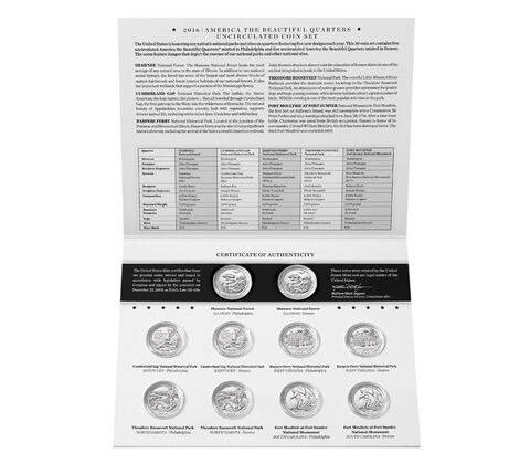 America the Beautiful Quarters Uncirculated Coin Set Enrollment