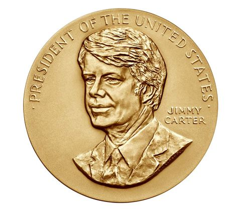 Jimmy Carter Bronze Medal 3 Inch