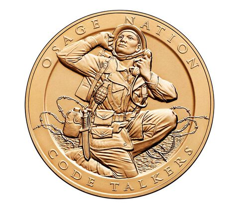 Osage Nation Tribe Code Talkers Bronze Medal 1.5 Inch,  image 1